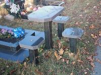 Столи з граніту на кладовище - купити гранітний стіл з лавкою, Прилуки